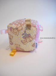 Pink Teddy címke kocka