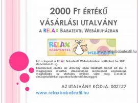 RELAX Babatextil vásárlási utalvány 2000 Ft értékben
