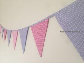 Zászló girland - Lila/Rózsaszín