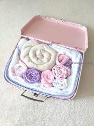 """Babatextil """"rózsa"""" box - Rózsaszín/Lila - INGYEN szállítással"""