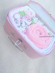 """Babatextil """"rózsa"""" box - Flamingó - INGYEN szállítással"""
