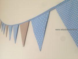 Zászló girland - Bézs/Kék